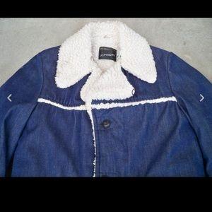 jcpenney Jackets & Coats - JcPenney Sherpa Mens Denim Trucker Barn Med Long
